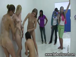 lesbian shower for college girls