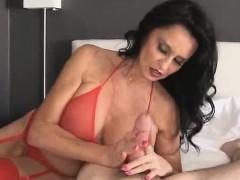 Busty pornstar Rita Daniels is always happy to show her