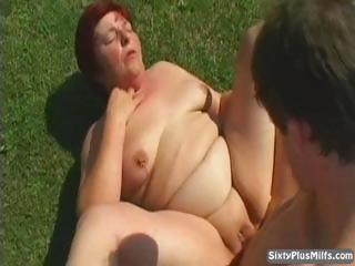 dirty old slut gets cumhozed after a long hard fuck