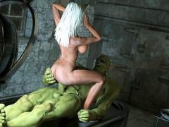 3D Nurse Ravaged by Frankenstein!