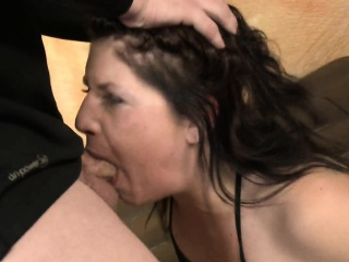 Fallon West spreads legs and is spit on