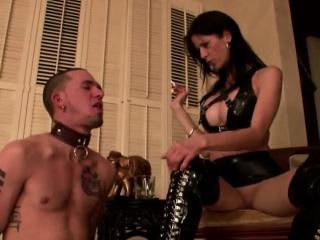 Mistress Paula Slaps Her Slave