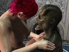 3D Elf fucked in weird cartoon fantasy