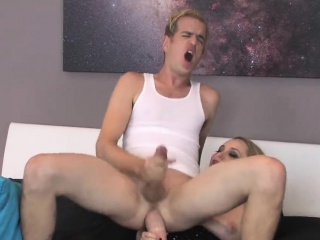 Girls fuck dudes asshole with big strap-ons and squirt ejacu
