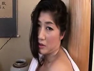 Dutiful Asian wife sucks on his meat then bends over for do