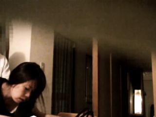 Japanese babe sucks cock