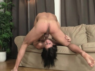 brunette bitch gets deep throat fucked