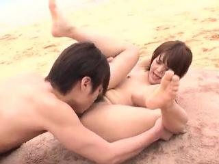 Sexy on the beach along superb  Saya Tachibana