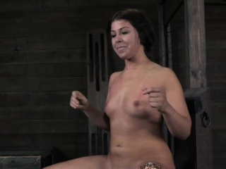 Anal hooked slut gets whipped into submission