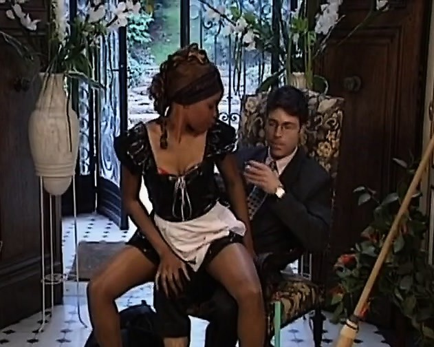 African Maid Is A Sex Slave With Hairy Pussy That Gets