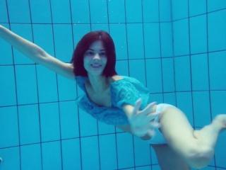 Flying panties underwater of Marusia