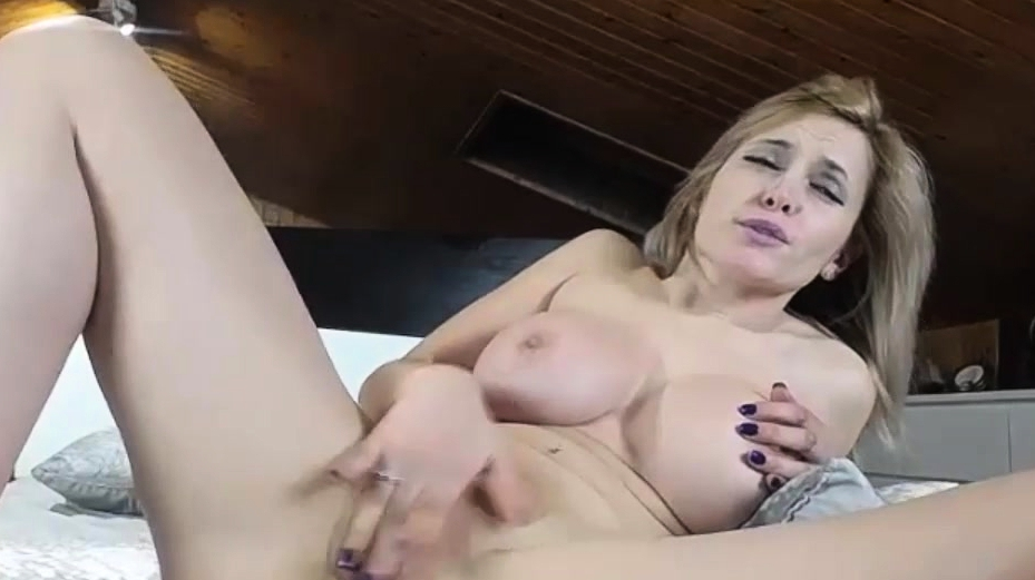 Gorgeous Big Tits Blonde Playing With Herself