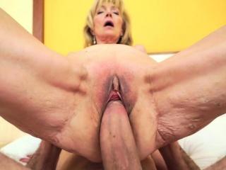Small tits grandma jizzed