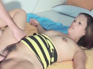 Hairy Thai Girl Ride Cock Cowgirl Style