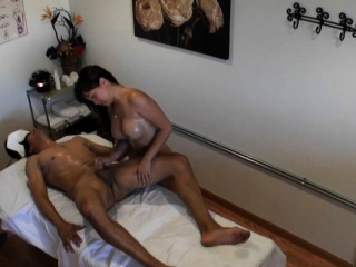 busty japanese masseuse rides dick for cash