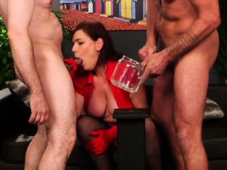unusual model gets cumshot on her face gulping all the load8