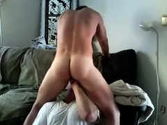 Amateur gorgeous gay hunks stroking each other