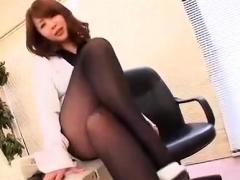 Mature asian milf giving handjob and rimjob
