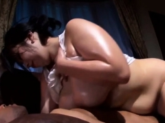 Booty Japanese Milf Oiled By Black