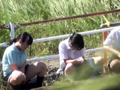 Asian Teens Urinating