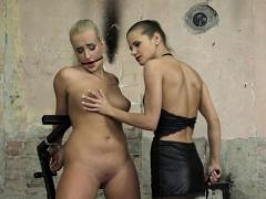 Euro femdom punishing tattooed babe