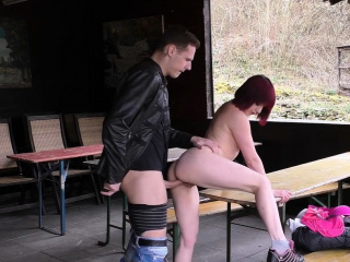 German teen pick up and fuck in next forest outdoor