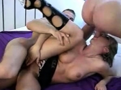 Reality anal gangbang in a swingers club