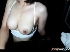 Korean Girl Demonstrates Her Bouncy Tits On A Webcam