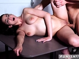 Gagged and fucked Kyra Rose in Military Sex