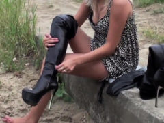 Platform leather Thigh boots designer- Andrea Cancelieri