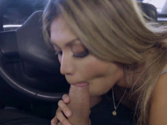 John's cock deep in Nicole's throat