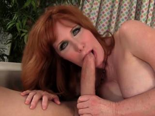 Older Ginger Freya Fantasia Gets Drilled
