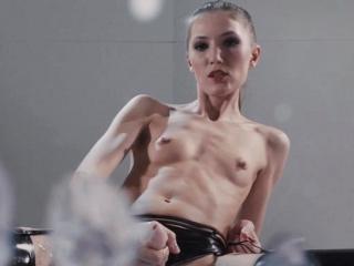 Super Skinny Chick in Latex