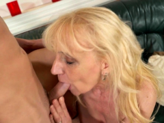 Dicksucking Euro Grandma Gets Her Cunt Plowed