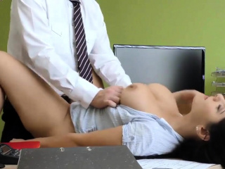 VIP4K. Modest brunette has dirty sex for cash in the loan