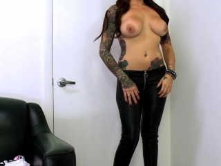 Nasty Mila Treasure with large tits gets pink pie drilled