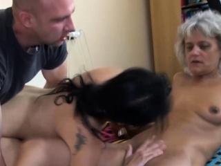 Granny in FFM 3some