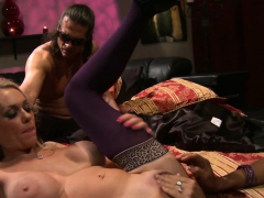 Two Huge-chested Breezies Get Their Moist Vags Porked By A Fortunate Guy