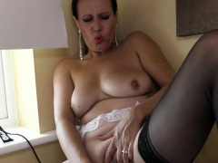 Naughty, Mature Annabelle Moore Was Home In Her Place