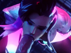 Sombra And Grace Taking Meaty Pricks In Jaws And Pussy