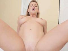 Cherie Deville rides BIG BLACK STEPSONs cock to get pregnant