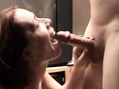 Pierced Hard-on Spunks On Pierced Tongue