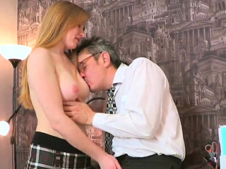 Ideal schoolgirl gets seduced and pounded by older me75eyJ