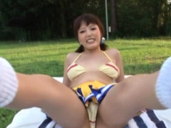 Playsome Minx Mao Hamasaki With Stiff Udders Gets Bod Licked