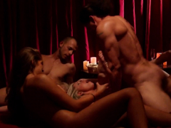 Swingers Get With Other Couples In An Romp In The Crimson Room
