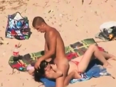 Couple Red-hot Boink On Naked Beach Caugh By Covert Cam