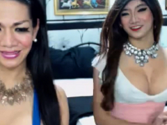 Naughty Transgirls Drains On Cam