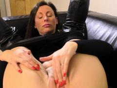 British Cougar Demonstrates Off Her Humungous Tits
