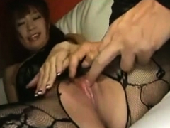 Voluptueuze Donna Ambrose nylon masturbatie met Donna Ambrose
