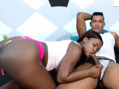 Black Teen Sucking On 2 Black Cocks